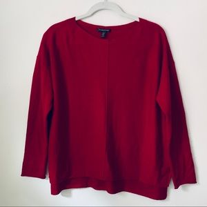 Eileen Fisher red long sleeve sweater